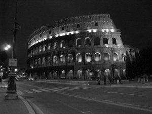 Colosseum night view