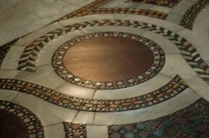 Cosmati flooring in Santa Maria Maggiore
