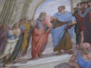 Raphael School of Athens detail