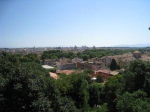 Janiculum Hill Rome view