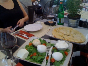 Sublime plate of mozzarella at Obika